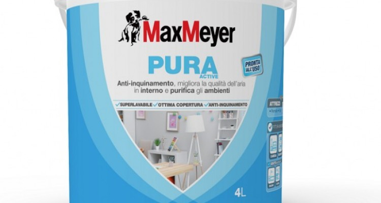 Da MaxMeyer arriva Pura Active, la pittura anti inquinamento da interno
