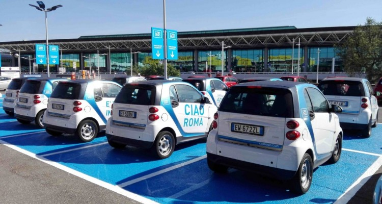 Car sharing Enjoy sbarca a Fiumicino, stop per lo scooter sharing