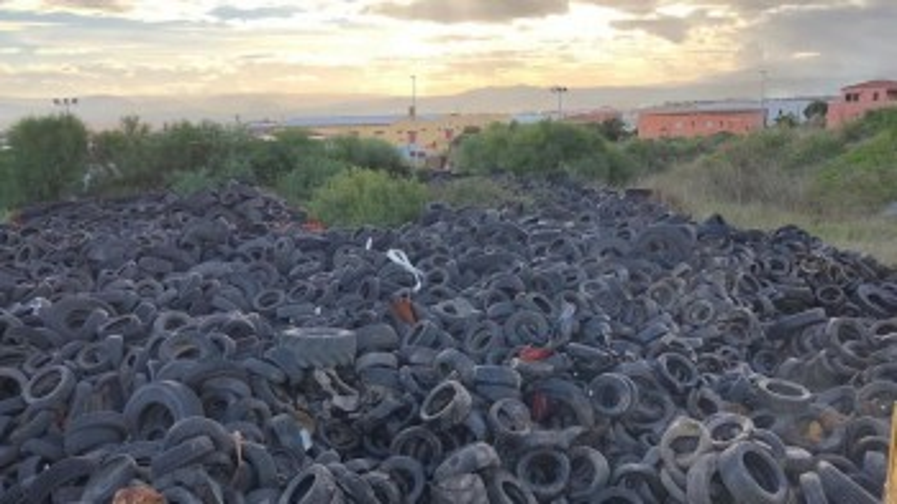 Olbia: prelevate 920 tonnellate di Pneumatici Fuori Uso abbandonati