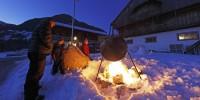 Trekking sulla neve ai masi Gallo Rosso