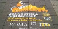 Roma: nuove piste ciclabili con i GreenGraffiti di Jungle