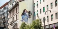 A Milano un murales che contribuisce a ridurre l'inquinamento