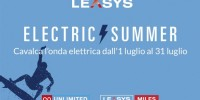 """Leasys lancia la """"Electric Summer"""", un mese di offerte dedicate alla mobilità elettrica"""